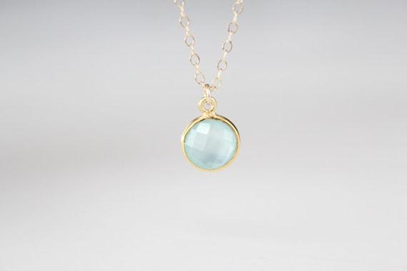 Seafoam Glass Pendant Necklace - Arial - LAST ONE - SALE