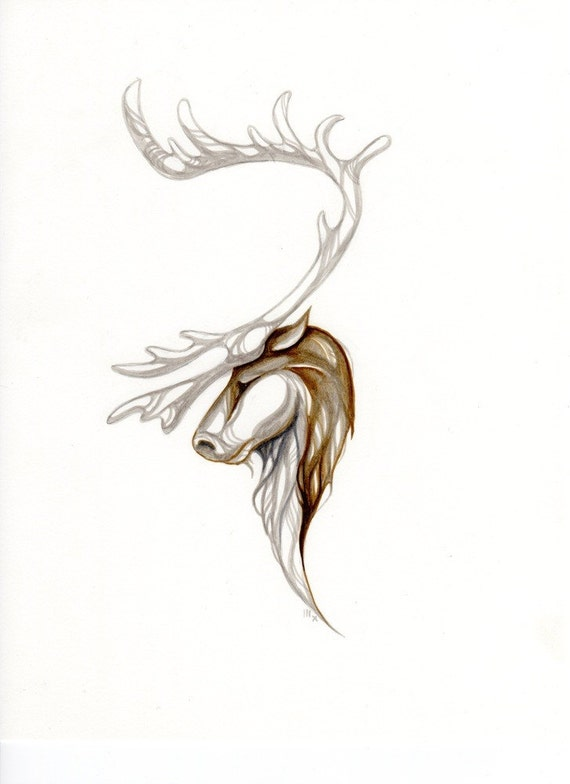 Prince of the Arctic....Alaskan Native Drawing....3 size options