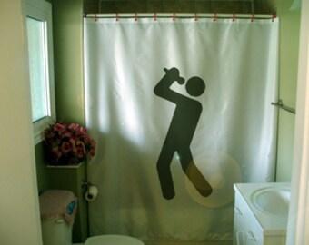 karaoke time Shower Curtain sing your heart out singing echo sound better bathroom decor kids bath curtains custom size long wide waterproof