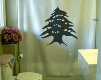 lebanon cedar Shower Curtain liban watan lubnan tree lebanese levant home bathroom decor kids bath curtains custom size long wide waterproof
