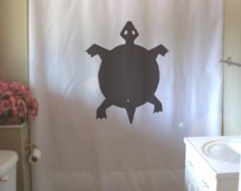 turtle shower curtain native rock art half shell design water reptile bathroom decor kids bath curtains custom size long wide waterproof