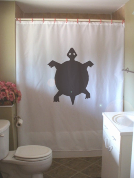 turtle shower curtain native rock art half shell design water reptile ...