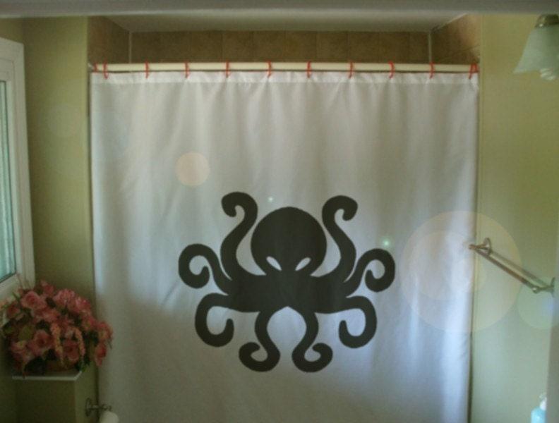 Goth Shower Curtain Part - 46: Octopus Shower Curtain Tentacle Eight Ocean Cephalopod Sea Creature 8  Bathroom Decor Kids Bath Curtains Custom Size Long Wide Waterproof
