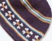 Knitted Hat - Purple Knit Toque Beanie - Women's Fashion