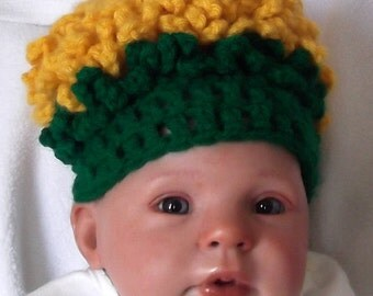 Colorful...Yellow DANDELION Hat..... PHOTO PROP..... Ready to Ship....  Newborn Boy or Girl