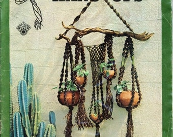 Macrame Instruction Book - Rope Plant Hangers - Macrame Hanging Pots