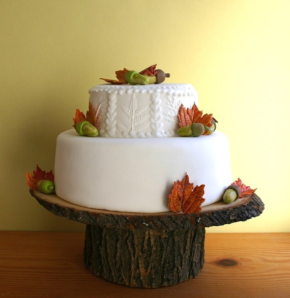 """12"""" x 16"""" Rustic wood Cake Stand"""