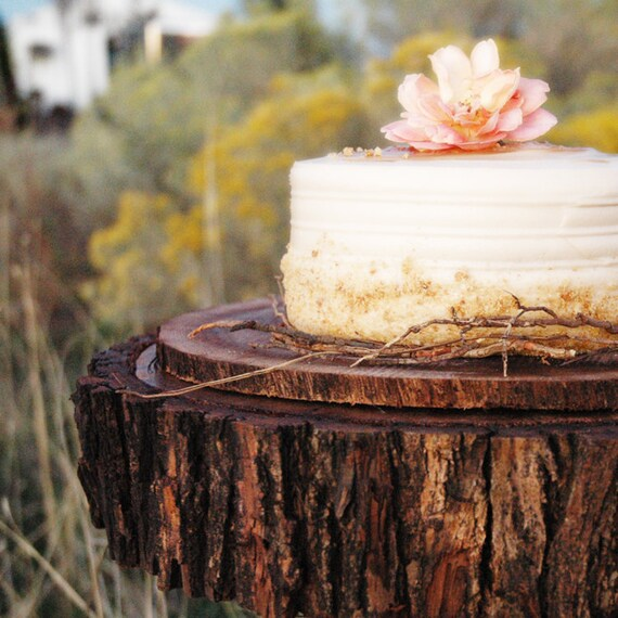 """14"""" Tree Slab Cake Stand"""