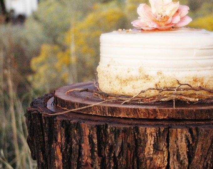 """15"""" Tree Slab Cake Stand"""