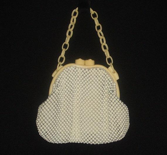 LAST CALL Vintage 1940s Whiting and Davis Mesh Handbag 40s 50s  Whiting & Davis Alumesh Purse
