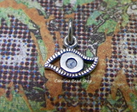 Sterling Silver Evil Eye Charm - C743, Amulet Charms