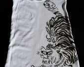 Tattoo Asian Tiger American Apparel Ribbed Tank