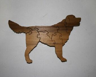 15% OFF Dark Retreiver Dog Wood Puzzle Poplar