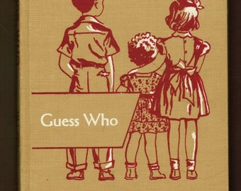 1951 Guess Who LARGE TYPE EDITION rare Dick and Jane Jr primer for blind