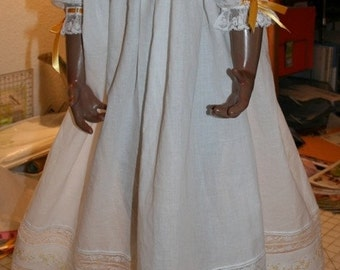 """Heirloom Dress with ribbon trim and embroidered """"fancy band"""""""