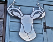 Deer Mirror Stags Head Wall Mirror Wall Art Cabin Hunting Lodge Decor Antler Hirsch Cerf