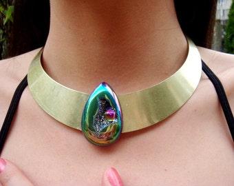 One of a Kind Rainbow Titanium Necklace