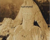 Victorian Bride Digital Downloadable Printable Image Instant Dowload