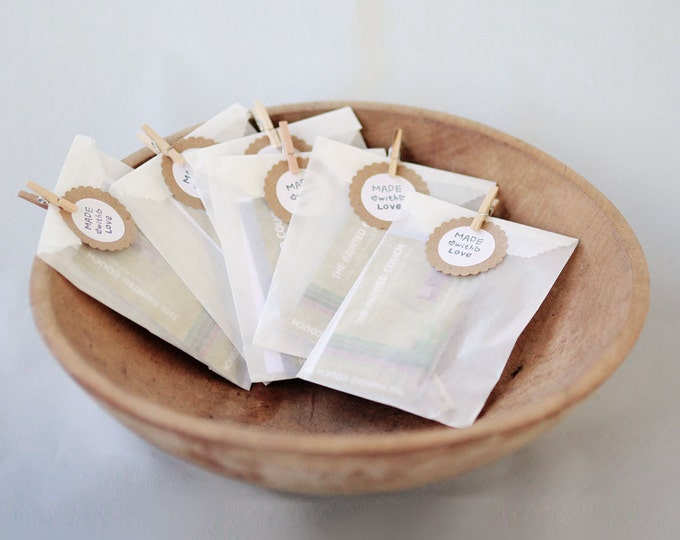 MINI GLASSINE Bags- 2 3/4  x  4 1/4  Glassine Bags set of 100    Wedding Favor Bags, Treat Bags, Business Card Envelopes