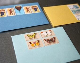 Vintage US Postage Stamped Envelope Set