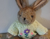 Clearance Vintage 1988 Bunny with sweater from Chrisha Creations Easter Rabbit