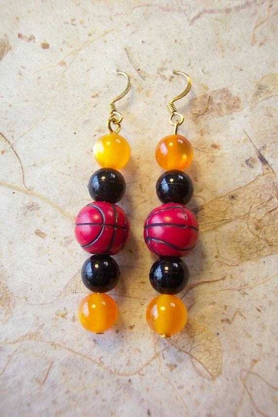 Oregon State Beaver Basketball Earrings