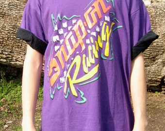 Vintage Purple Snap-on XL Racing Shirt // 1980s