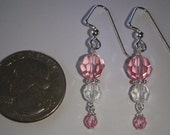 Donation: Diva Connection Foundation Dainty pink earrings w/ Swarovski crystals