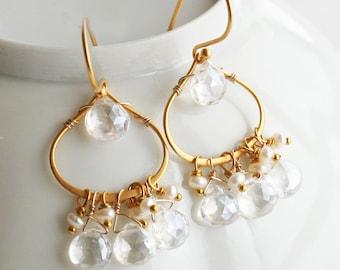 Wedding Earrings, Bridal Earrings, Crystal Earrings, Wedding Jewelry