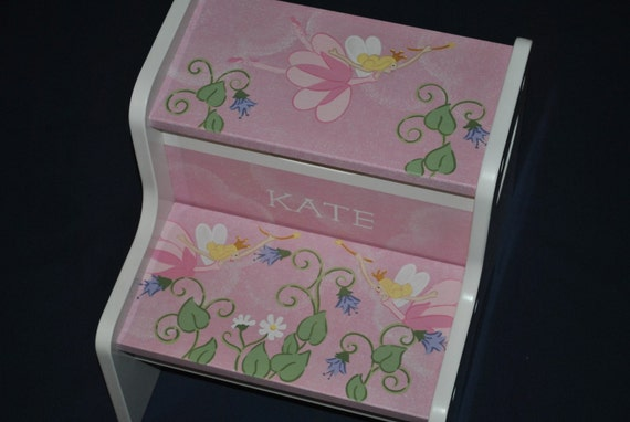 Kids Personalized 2 Step Stool -- Fairy Princess