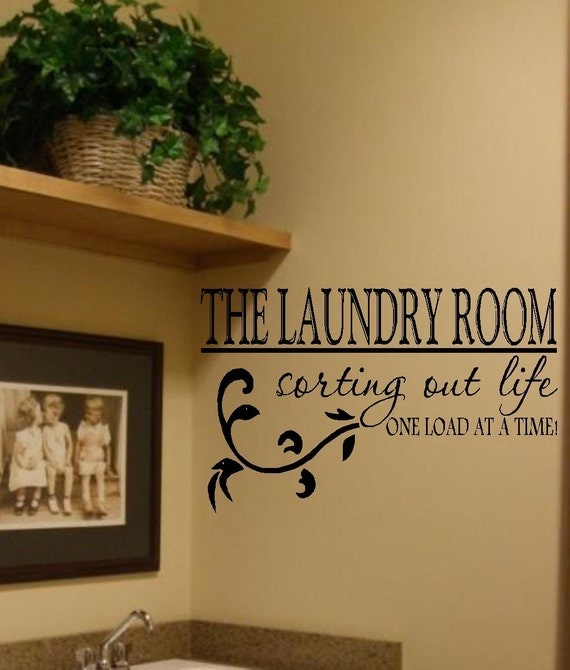 The laundry room vinyl wall decal decor lettering art laundry for Decoration quotes