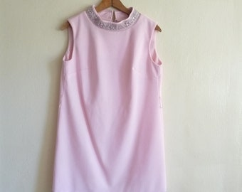 pink shift mini dress, small medium