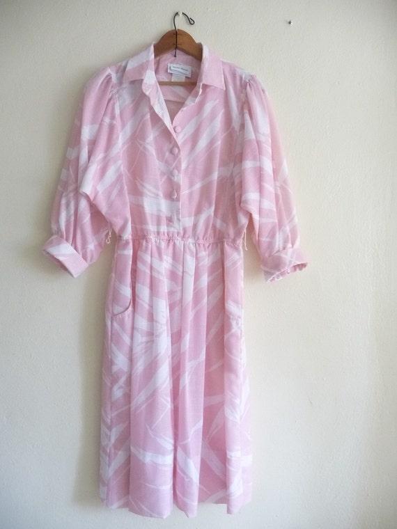 pink safari dress in abstract print
