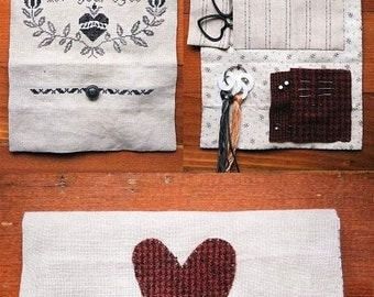 I Get Lost in Your Eyes, a Sewing Pouch : Cross Stitch Pattern by Heartstring Samplery