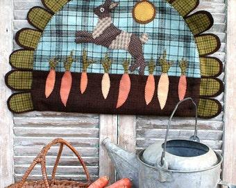 Carrot Season is Hare : Wool Applique Pattern by Heartstring Samplery