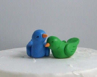 Cake Topper Birds - Colors of Choice