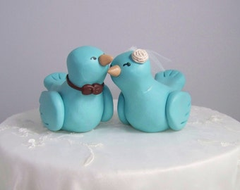 Custom Love Bird Wedding Cake Topper Birds - Fully Customizable