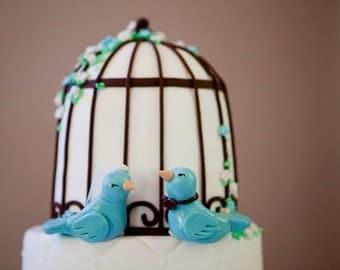 Custom Wedding Bird Cake Topper - Love Birds - Custom Choice of Colors