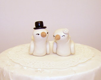 Bird Wedding Cake Topper High Fashion Medium Size - Choice of Colors