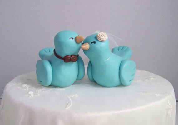 Custom Love Bird Wedding Cake Topper Birds - Fully Customizable