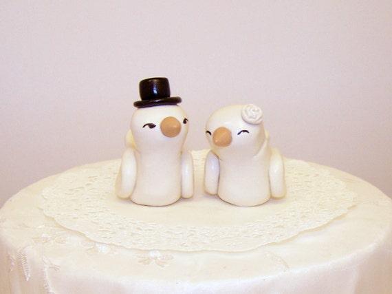 Bird Wedding Cake Topper High Fashion Medium Size - Choice of Colors