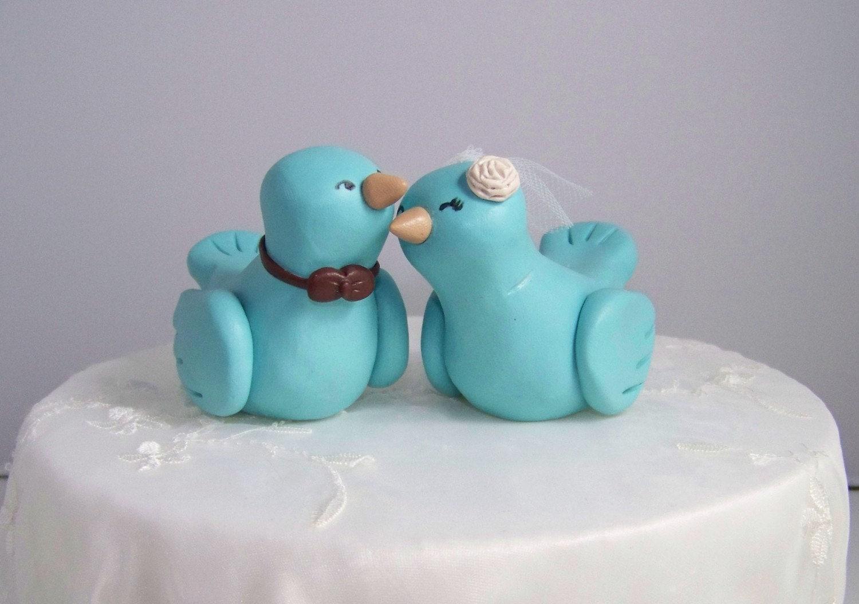 Custom Love Bird Wedding Cake Topper Birds Fully