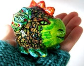 Handmade Dragon Chinese New Year Green Lizard Guardian