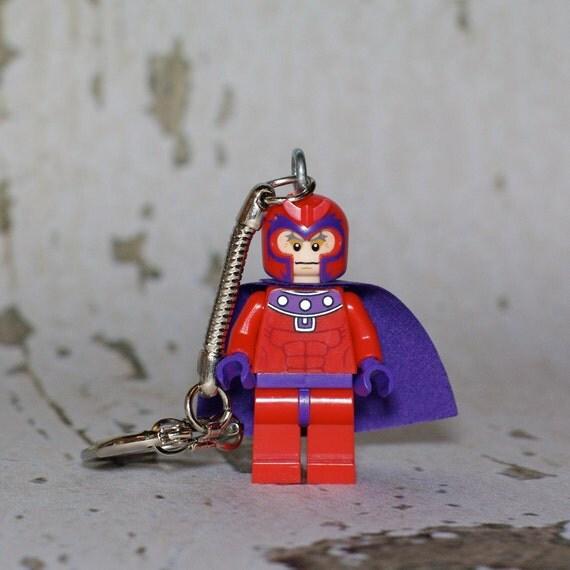 Magneto LEGO key chain