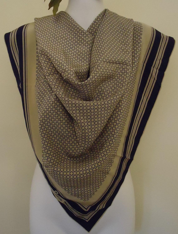 Etienne Aigner Vintage Silk Scarf by MadMakCloset on Etsy Vintage Silk Scarves