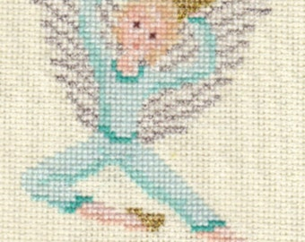 Angel counted cross-stitch chart