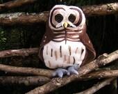 Barred Owl Soft Sculpture / Fibre Art Owl / Toy Owl / Childs Toy Owl / Fleece stuffed Toy