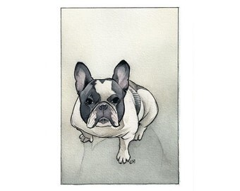 4x6 Custom Watercolor Pet Animal Portrait