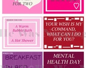 Love Coupons For Him/For Her - Instant Download