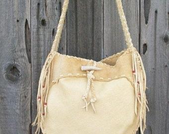 Leather drum bag ,   Leather crossbody bag ,    Handmade leather tote ,  Gypsy  handbag , Leather handbag